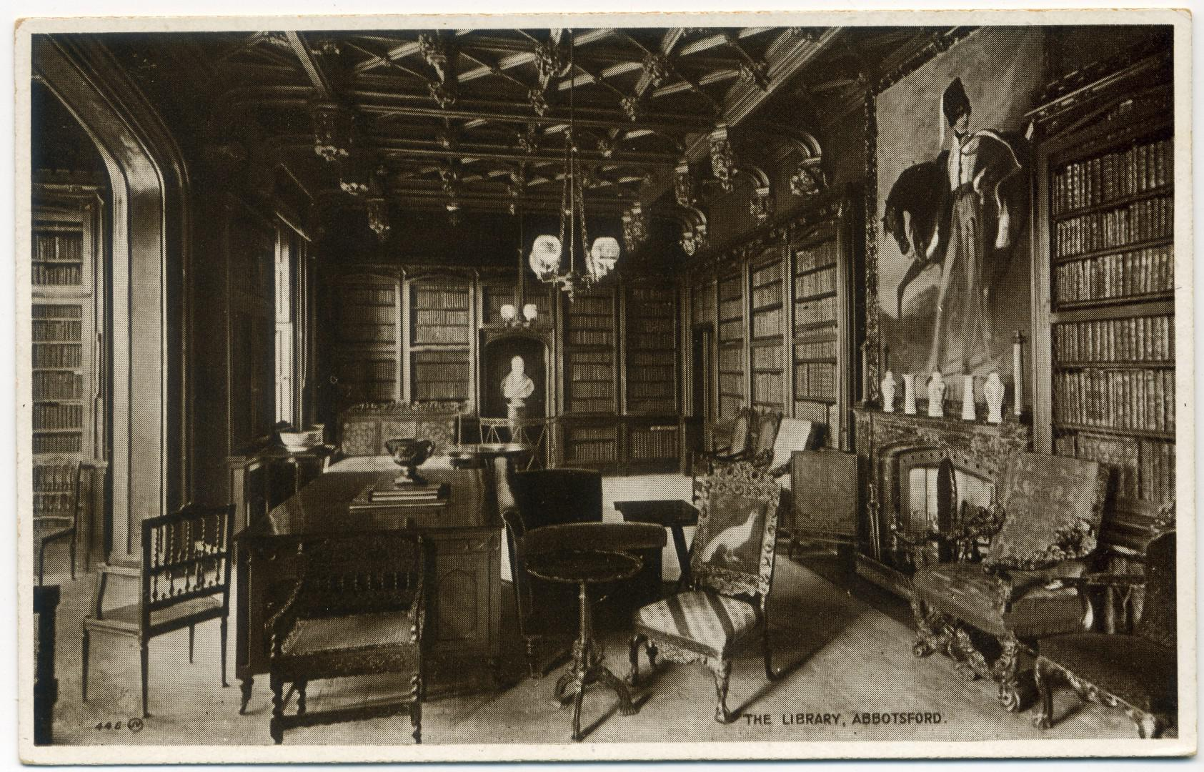 Galashiels: Abbotsford House, The Library
