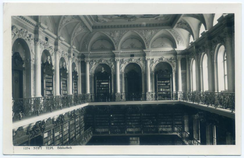 Stift Tepl (Teplá), Klosterbibliothek
