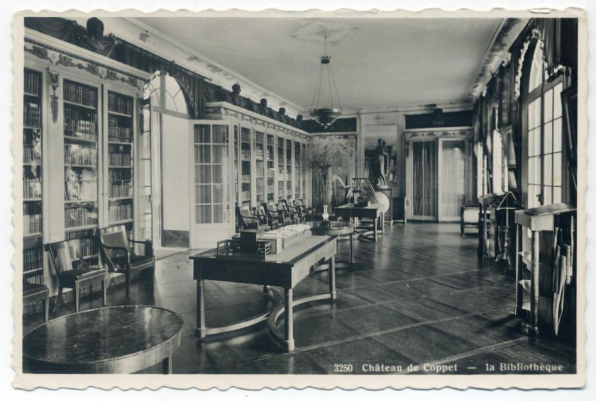 Schloss Coppet: Bibliothek (Empire)