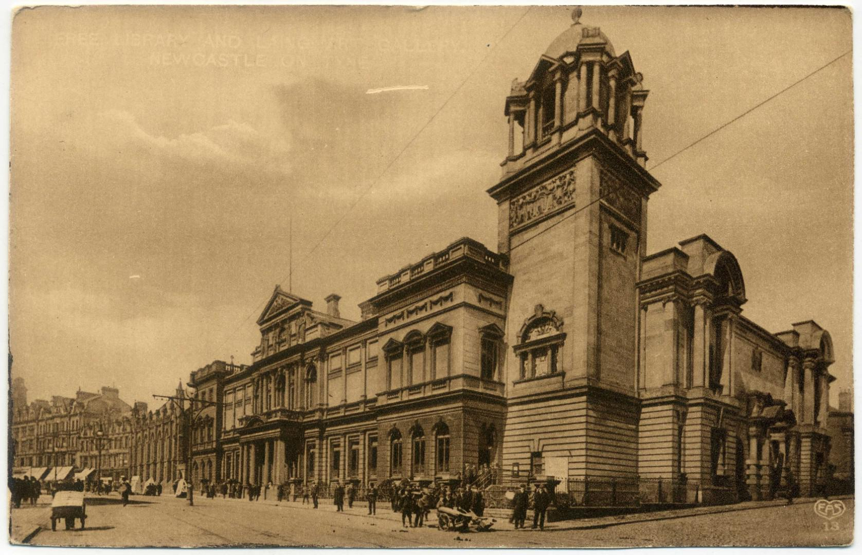 Newcastle upon Tyne: Free Library (Alfred Fowler) und Laing Art Gallery