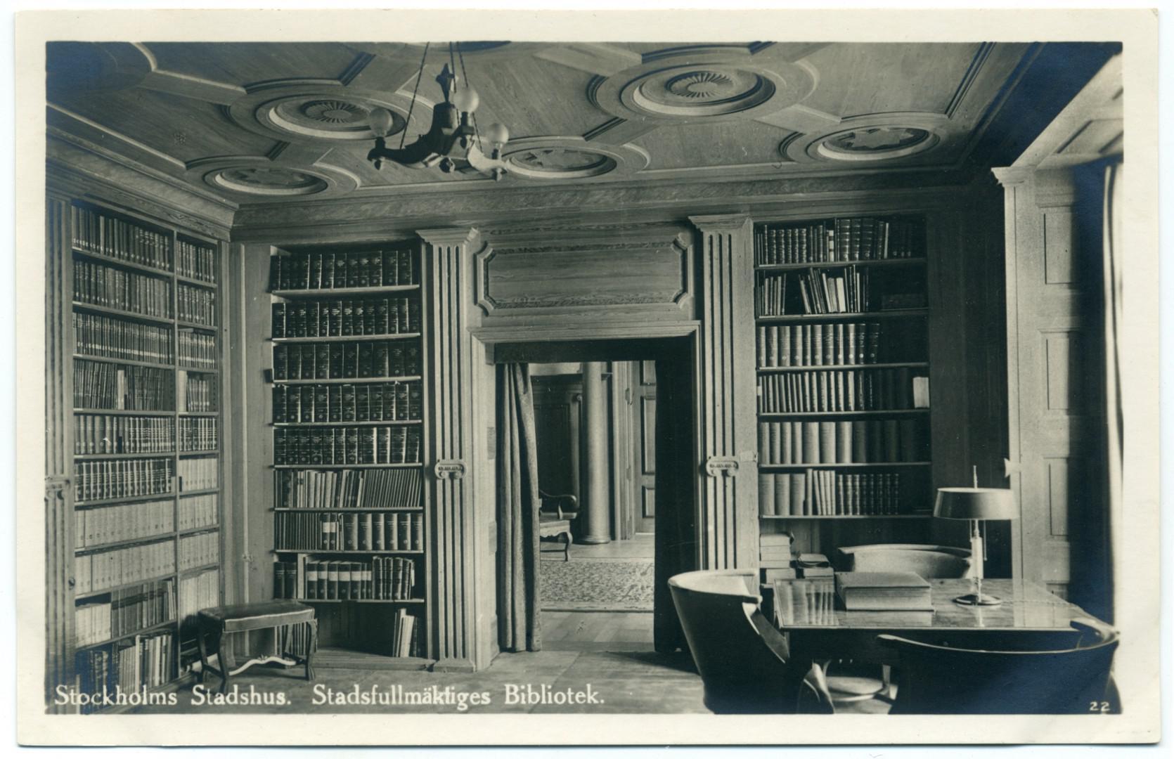Stockholm: Stockholms stadshus - Bibliothek