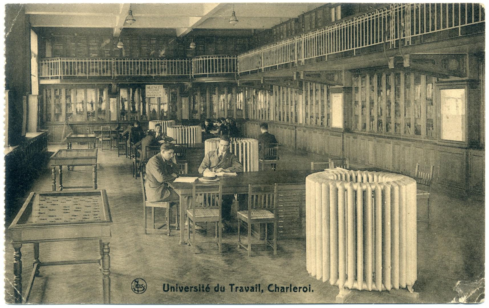 Charleroi: Université du Travail - Bibliothèque publique