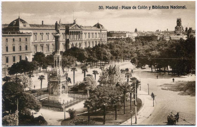 Madrid - Plaza de Colon y Biblioteca Nacional