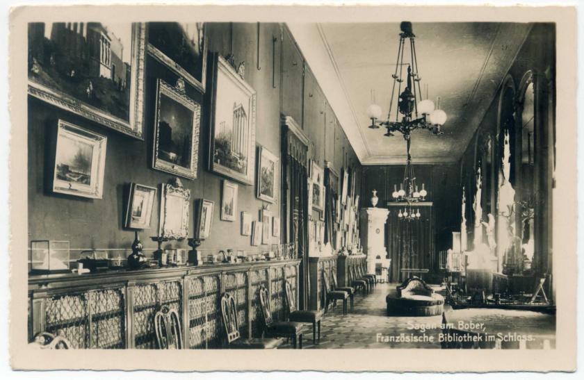 Schloss Sagan: Französische Bibliothek (Gemäldegalerie)