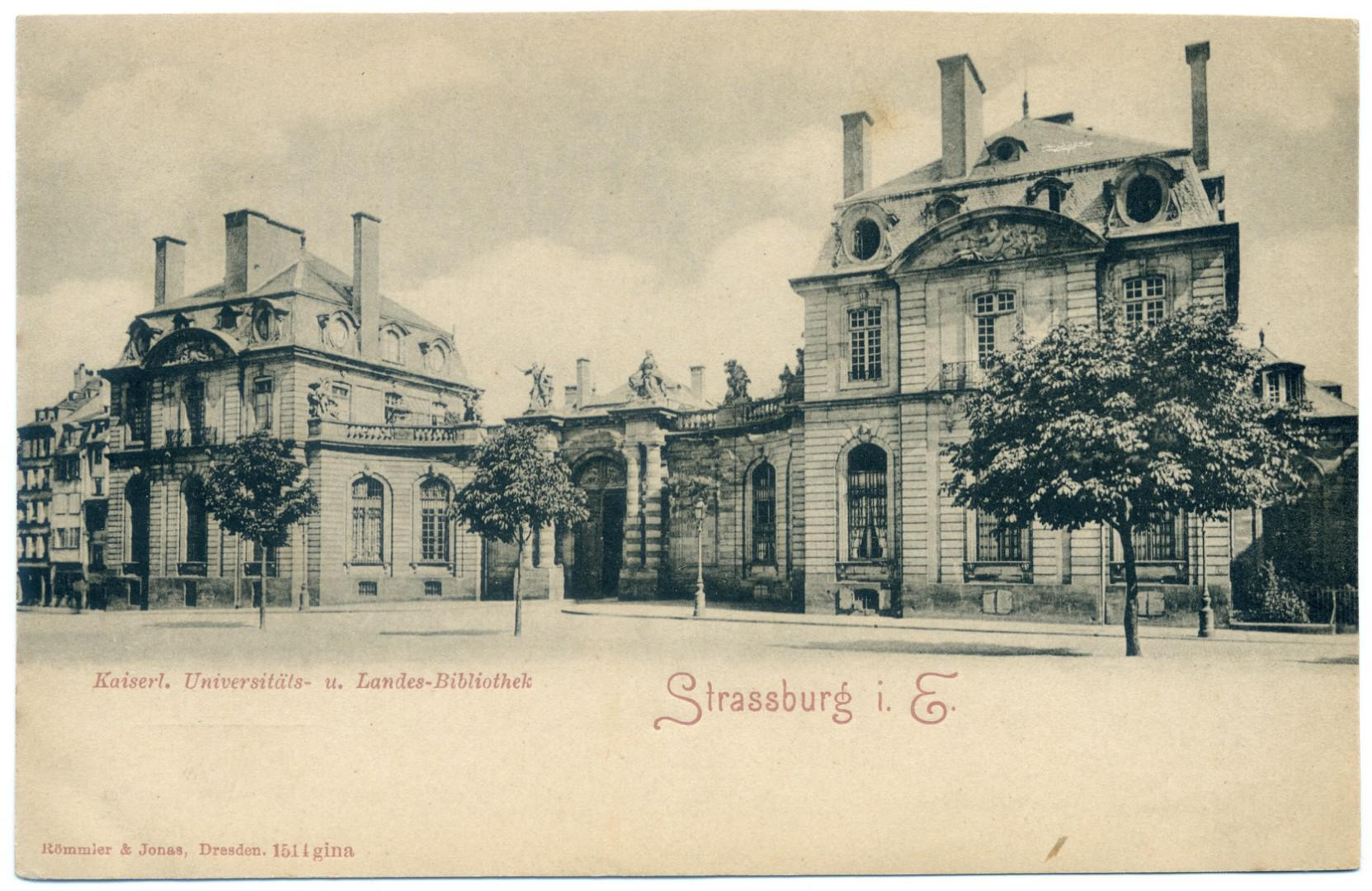 Strassburg (Strasbourg) - Landesbibliothek - Palais Rohan