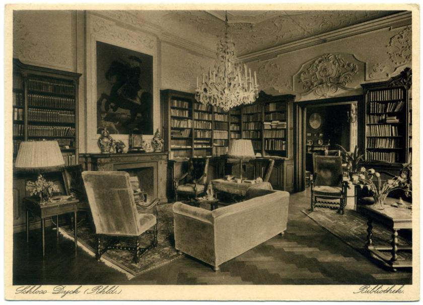 Jüchen: Schloss Dyck, Kleine Bibliothek