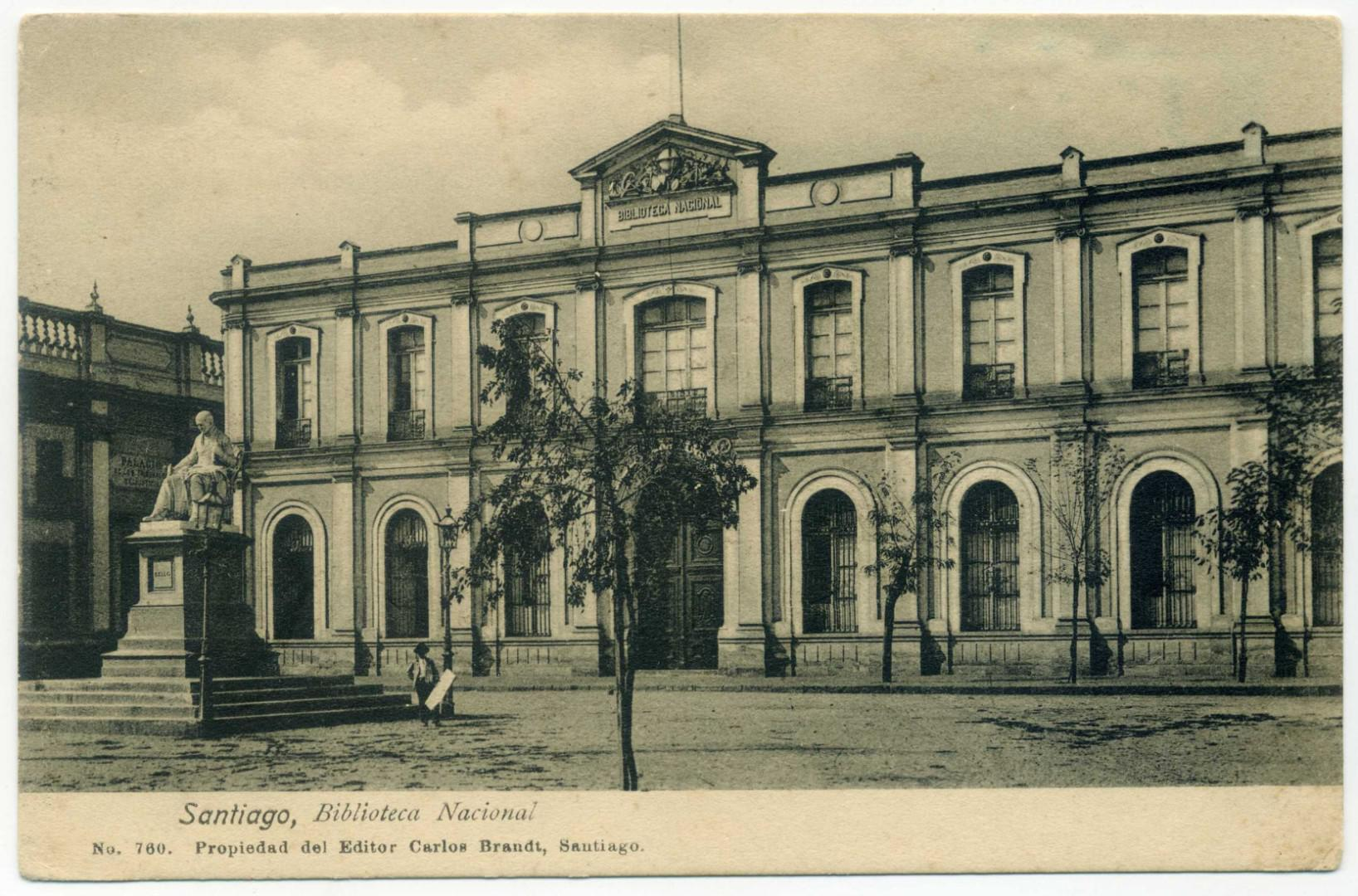 Santiago de Chile: Nationalbibliothek (ca. 1900)
