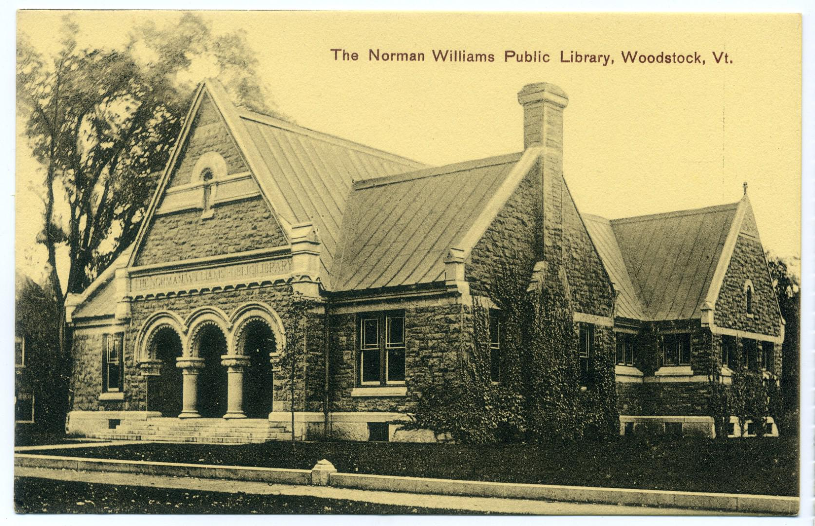 Woodstock Vermont Norman Williams Public Library