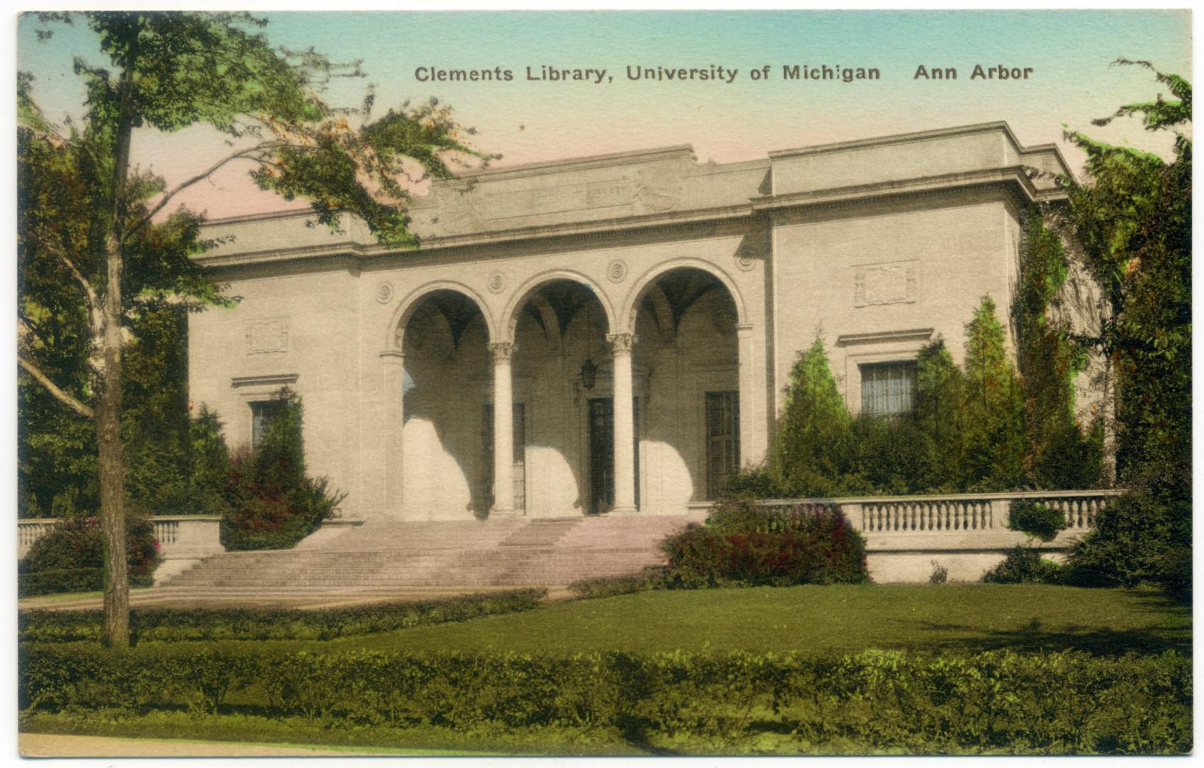 Ann Arbor: University of Michigan, William L. Clements Library